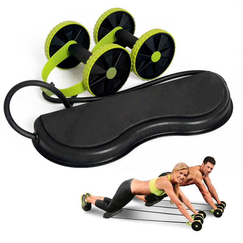 Workout Ab Roller Wheel Core Strength Abdominal Trainer with Hand Gripper